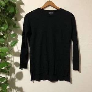 Lord & Taylor 100% Merino Black Sweater Petite S